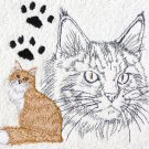 Maine Coon Cat Cream Wash Hand Bath Towels Set