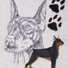 Doberman Pinscher Dog Embroidered Bath Towels