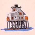 Timbalier Lighthouse Embroidered Bath Medium Blue Towel Set