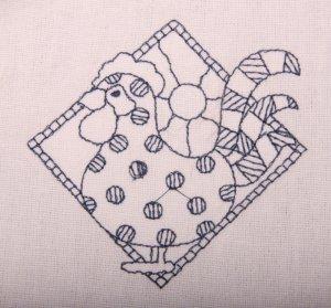 Bluework Chicken Flour Sack Dish Towel
