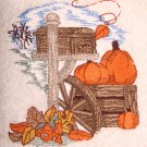 Autumn Mailbox Embroidered White Bath Towels