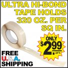$2.99 Double Backed Ultra High Bond Tape 2 Two Sided Coated Strong Clear Wide 320oz Hold FREE US S/H