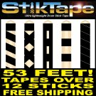 12 StikTape Ultra Lightweight Black Drum Stick Grip Tape