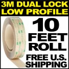 $14.99 3M Dual Lock Low Profile Reclosable Fastener SJ4570 Clear Velcro Hook and Loop SHIPS FREE