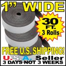 "Three (3) - 1"" In x 10' Ft Magnet Tape Adhesive Backed Magnetic Roll."