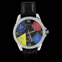 Geneva Brand 5 Time Zone Watch