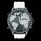 5 Time Zone World Map Black & Clear
