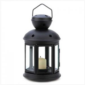 Colonial  Candle Lamp: Choose Black or White