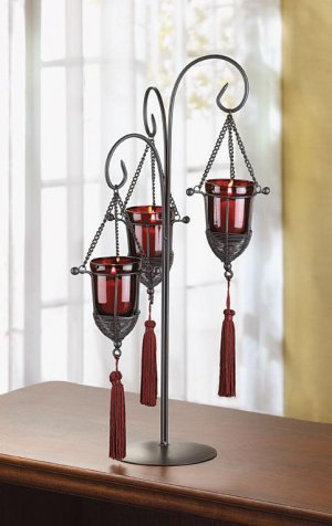 Tassel Votive Holder:
