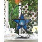 Blue Glass Star Lantern Stand