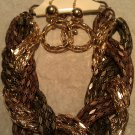 Chunky Necklace With Earrings