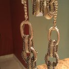 Chained Necklace With Earrings