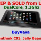 "BuyVaya-10.1"" Zenithink C93 Dual-Core Google Android 4.1 Jelly Bean OS Tablet - Black Color"