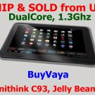 "BuyVaya-10.1"" Zenithink C93 Dual-Core Android 4.1 Jelly Bean OS Tablet - Black Color with Free Case"