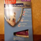 HARTZ* Ultra Guard Plus FLEA & TICK DROPS 3 Months FOR DOGS+PUPPIES 31-60lbs