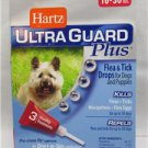 Hartz UltraGuard Plus Dog Flea Tick Mosquito Drops 3 Month 16lb - 30lb (10 PAKS)
