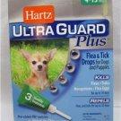 Hartz UltraGuard Plus Dog Flea Tick Mosquito Drops 3 Month Supply 4-15lbs 3 PAK
