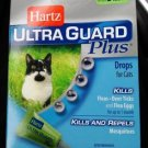 HARTZ*Ultra Guard Plus DROPS Fleas Ticks Mosquitoes 5lbs 3 BOXES = 9 TUBES