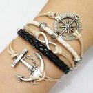 Bracelet, Compass, Infinity, Flower Bead & Anchor Bracelet, Charm Bracelets