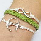 Infinity & Anchor Bracelet --Antique Silver Charm Bracelets