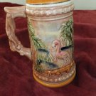 1940 Colorful Art Vintage Florida Souvenir Japan Beer Mug Cup