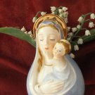 Vintage Religious 1960 Madonna Mary Jesus Giftware Japan Head Vase