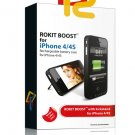 Rokit Boost ® - Battery Case for iPhone 4/4S - 0.5 in Thickness - 1.88 oz Weight (White)