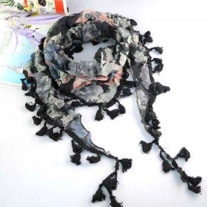 elegant peony scarf ,NL-1518C
