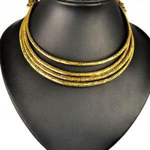 vintag metal layered choker statement necklace ,NL-1808
