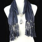 lady's fashion long tassel scarf ,NL-1221D