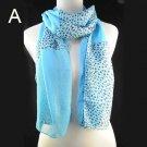 spring fashion leopard grain Polyester Yarn scarf ,NL-1520