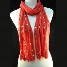 new fashion long rivet scarf ,NL-1493B