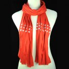 Bright beautiful red scarf ,NL-1481G