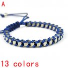 Fashionable wrapped woven bracelet,BR-1363