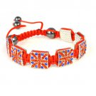 united kindom flag design shamballa bracelets .BR-1347