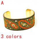 Golden color iron woman bangle classical fabric pattern 3 colors fashion BR-1358