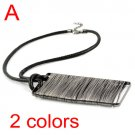 fashion jewelry rectangle pendant Wire winding necklace free shipping, NL-1584