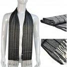 Black Gray men scarf stripe patterns warm scarves gentleman accessories, NL-1836