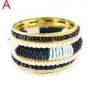 4 colors beaded bangle golden color bracelet multi layers fashion, BR-1328