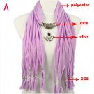 10 colors jewelry scarves, pendant scarf rhinestone shawl can wholesale, NL-1791