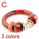 Lady fashion jewelry bangles golden bracelet color rings 3 colors,  BR-1257