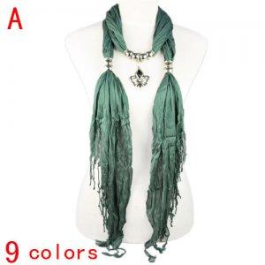 UK royal mark pendant trangle shawl jewelry scarves 9 colors wholesale, NL-1830