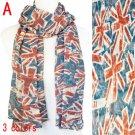 New Olympic United Kindom flag scarf fashion ladies shawl wrap 3 colors, NL-1861