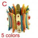 5 colors fashion ladies resin bangles cool bracelets elastic jewellery, BR1259