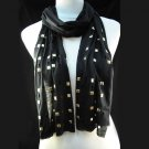 Cool punk rock rivet scarf 7 colors new design fashion, free shipping, NL-1493