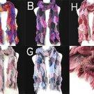 Lady Winter warm charm scarf mixed color long fashion knitted scarves , NL-1253