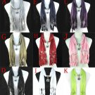 9 colors metal flower charms fashion pendant scarf jewelry scarf necklace NL1252