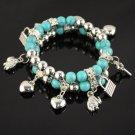 10 pcs fashion Multi layere turquoise beads friendship bracelets charms BR-810