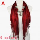 6 colors pendant scarf charm beads jewelry scarves, free shipping, NL-1802