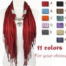 1 pcs Charms heart pendant scarf tassels fashion lady jewellery scarves NL-1802